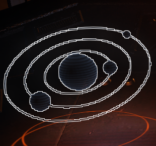 Cockpit Hologram 8, Star System (destination system or nothing selected)