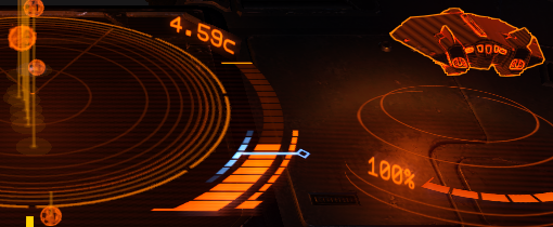 Cockpit Throttle Indicator, Blue Zone